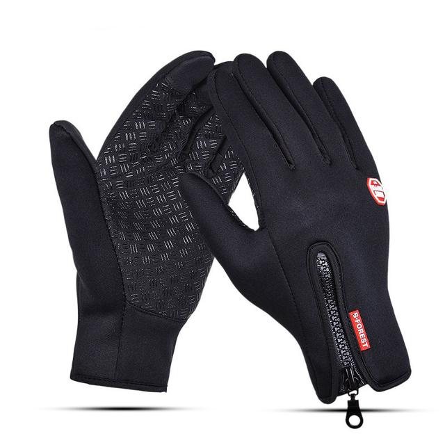 Fishing Gloves Full Finger Neoprene PU Breathable Leather Warm