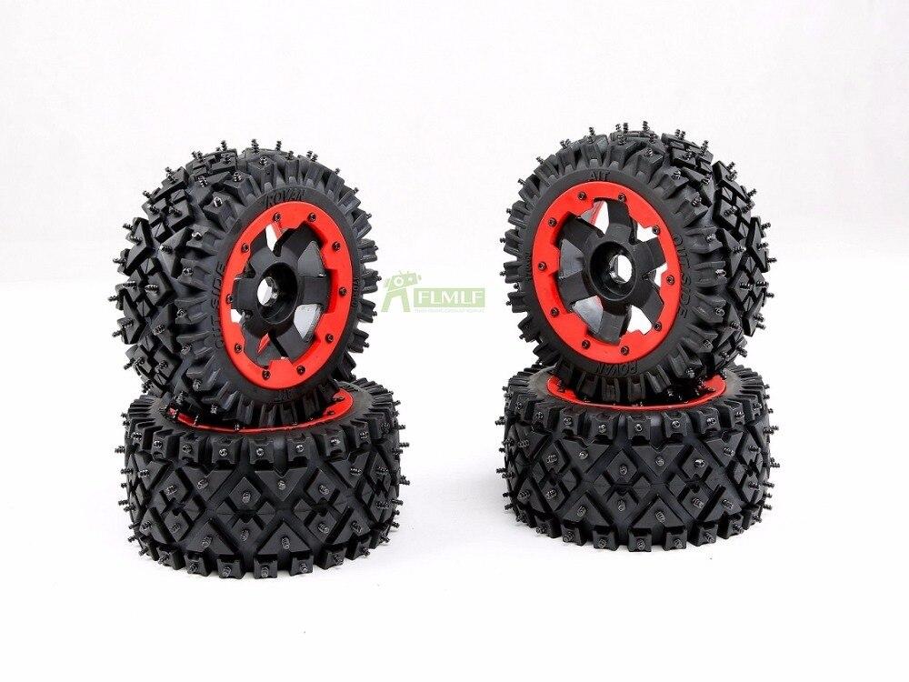 All terrain nail tire Wheel set 4PCS/SET for 1/5 HPI Baja 5B ROVAN KM1 0 2 0