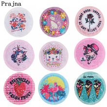 Prajna Unicorn Rose Reversible Change Color Sequins Patch Flamingo Cute Girl  Patches For Clothing Cheaper Diy Applique F