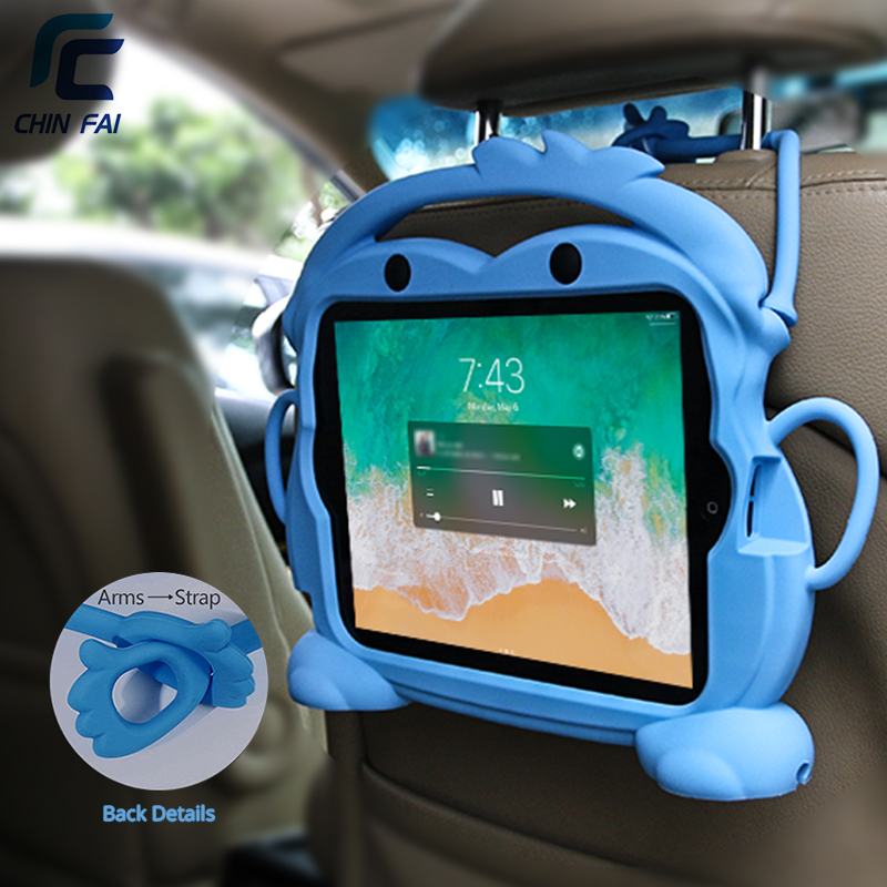 Chinfai Kid friendly transporter coque en silicone pour iPad 2/3/4 9.7 ''antichoc lavable étui pour iPad 4 housse support pour tablette pour iPad 2