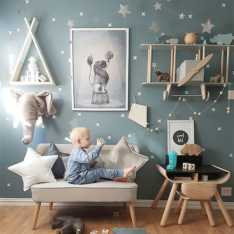 Us 0 59 Cross Wall Sticker For Kids Room Baby Boy Decor Home Nursery Ideas Vinyl Stickers Wallpaper In