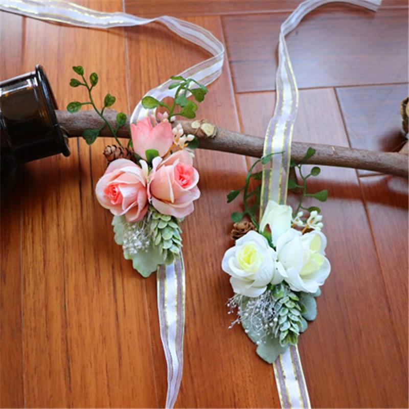 Ramo de mano para novia recién nacido bebé fotografía tocado de accesorios flor Artificial mujer embarazada foto accesorios de disparo