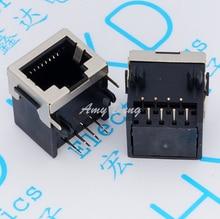 100 шт./лот RJ45 разъем 58 полпачки 56-8P8C полу Экранирование половина пакет тип сетевой разъем защиты оболочки