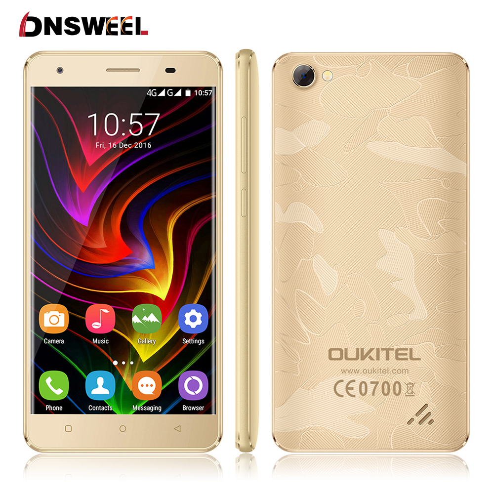 Oukitel C5 Pro 4G Smartphone Android 6 0 MT6737 Quad Core 5 0 inch HD IPS