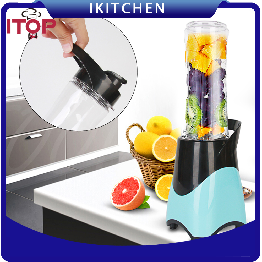 Personal Blender With Travel Cup Mini Juicer Blender Portable  Maker Fruit Mixing Machine 220V 300W kkstar fruit electric juice cup glass charging portable mini mini cyclone