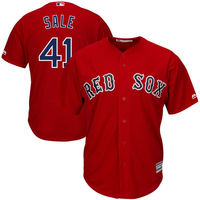MLB Men S Boston Red Sox Chris Sale 41 Baseball Gray Road Cool Base Jersey