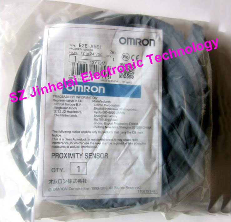 100% New and original OMRON Proximity switch, Proximity sensor  E2E-X5E1   2M  12-24VDC [zob] new original omron shanghai omron proximity switch e2e x18me1 2m 2pcs lot