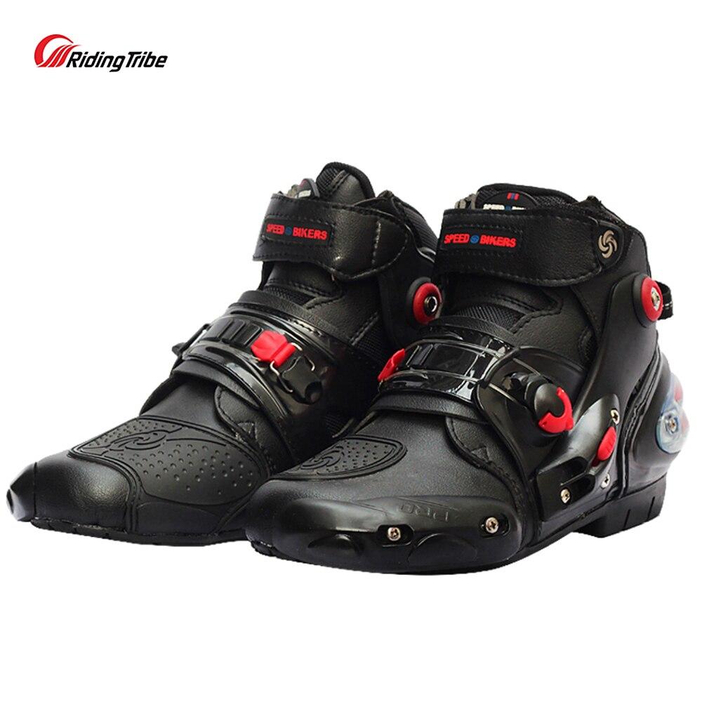 Équitation tribu Moto bottines chaussures de course antidérapantes Motocross Motobike tout-terrain Moto protection botte pied protecteur A9001