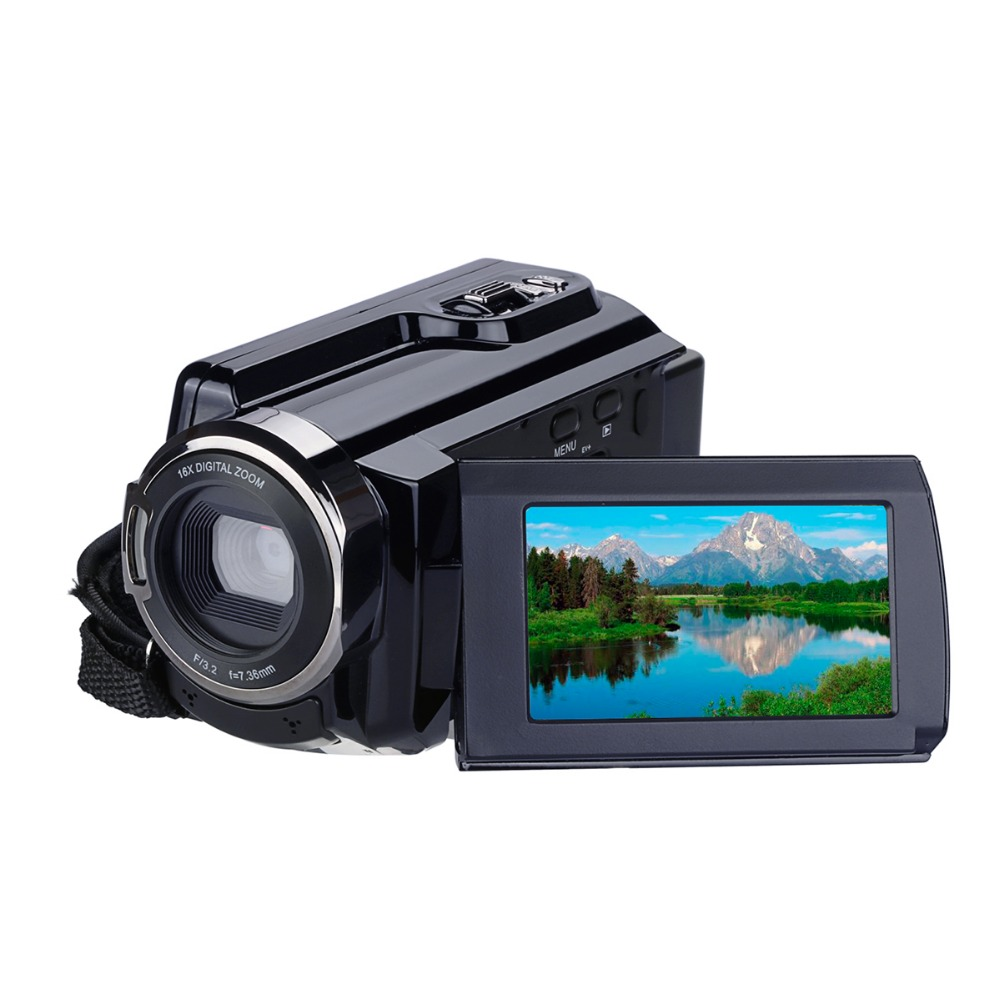 все цены на 3 inch LCD WiFi Digital Camera Full 1080P Video Camera HD 4K Touch Screen DV Camcorder Video Player with Camera Bag Digital онлайн