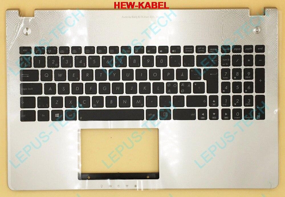 NE NO ND Norwegian UK Keyboard Backlight For ASUS N56 N56V N56VJ N56VM N56VZ Top Cover