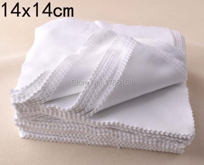 100pcs White 14x14CM Sublimation Microfiber Cleaning Cloth Eye Glasses Cleaning Cloth Screen Lens Cloth Customized Logo Cloth