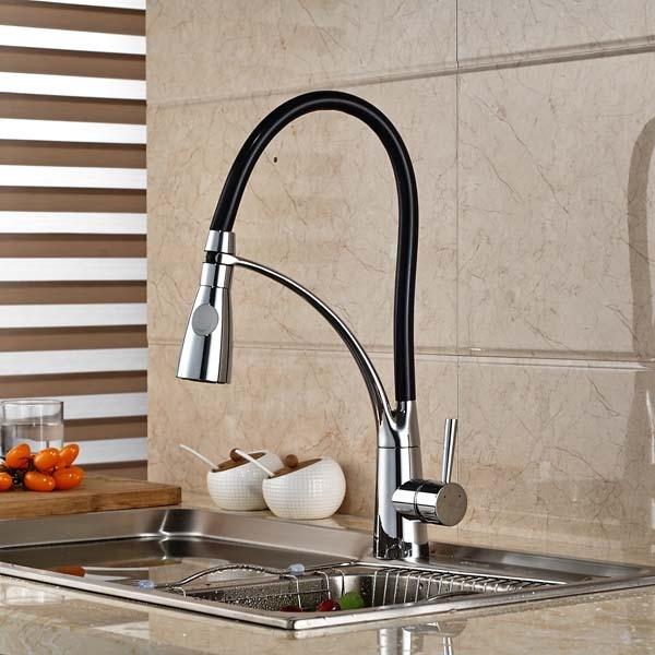 Kitchen Sink Faucet Hose : Kitchen Faucet Black Hose Vessel Sink Mixer Tap Dual Sprayer Single ...