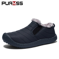 2018 Winter New Men   Shoes   Keep Warm Casual   Shoes   Fur Men Loafers Winter Warm Fur Plush Insole Couple Sneakers Plus Size 48