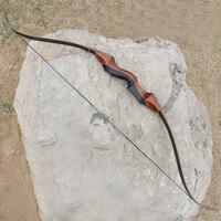 35 60lbs 58 дюймов стрельба из лука снять Охота Лук деревянный изогнутый лук для стрельбы стекловолокна конечностей для спорта на открытом возд