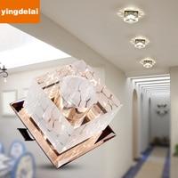 New Corridor Mirror Ceiling Lamp Aisle Veranda Lighting Down Crystal Mordern Surface Mounted LED Ceiling Lights For Living Room