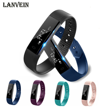 Lanvein ID115 умный Браслет фитнес-трекер часы будильник счетчик шагов умный Браслет Bluetooth Спорт сна монитор трек
