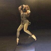 Новые пикантные блестящие черные боди Кристалл комбинезон gogo Костюмы певиц dj Pole Dance Этап Ночной клуб наряды производительность
