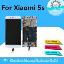 """5.15 """"Originele M & Sen Voor Xiao Mi 5 S Mi 5 S M5s Met Fingerpint Lcd scherm + touch Digitizer Frame Voor Xiao Mi Mi 5 S Lcd"""