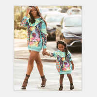 2018 New Winter Family Sweatshirts Mommy and Me Mother Daughter Hoodies Clothes Cartoon Family Clothing Outfits