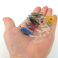 5pcs Fishing Lure Set Soft Lures 51mm Length 5g Weight Bait With 1 Hook Soft Bait