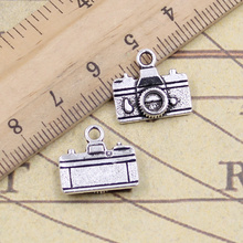 12pcs/lot Charms Retro Camera 15x14mm Tibetan Pendants Antique Jewelry Making DIY Handmade Craft For Bracelet Necklace 12pcs lot charms retro camera 15x14mm tibetan pendants antique jewelry making diy handmade craft for bracelet necklace