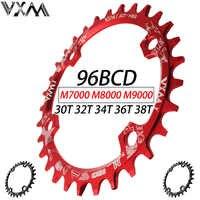VXM 30 T 32 T 34 T 36 T 38 T 96BCD aleación de aluminio ovalado redondo cadena rueda bicicleta de carretera plato para M7000 M8000 M9000