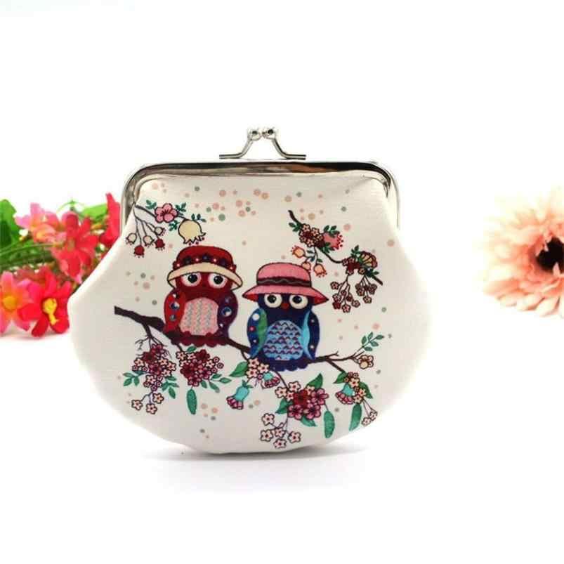 Kadın Bayan Retro Vintage Baykuş Deri Küçük Cüzdan Çile Çanta el çantası Dropshipping N21