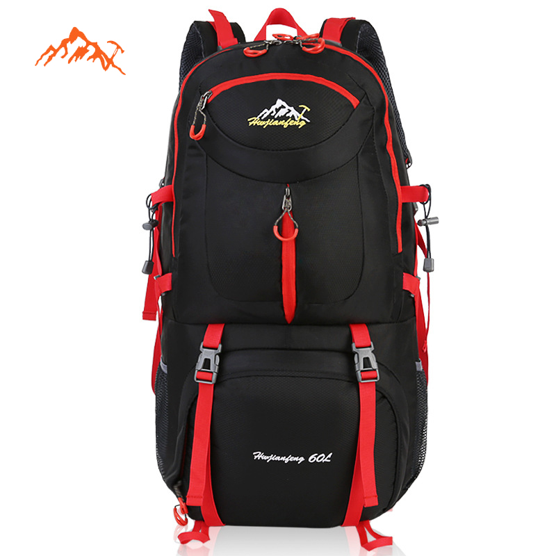 60L Outdoor Backpack Waterproof Nylon Climbing Travelling Bags Durable Hiking Bags Man Women Mountaineering Camping Bag