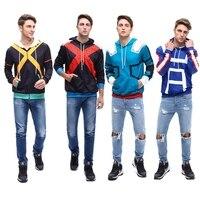 My Hero Academia Boku no Hero Academia Cosplay Costumes Men Women Sweatshirt Fashion zipper Hoodie School Uniforms Jackets Coat