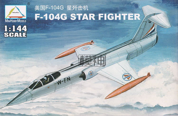 1: 144 USA F-104G STAR Fighter American Air Force Military Assembled Aircraft Model 80413
