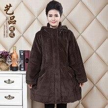 Плюс размер 2016 среднего возраста зимняя куртка женщины parka зимнее пальто женщин jaqueta feminina манто femme куртки abrigos mujer