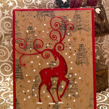 DiyArts Reindeer Christmas Metal Cutting Dies New 2019 for Craft Scrapbooking Card Making Album Stencil Deer Die Cut