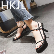HKJL Fahion women High-heeled 2019 new summer womens shoes minimalist fashion sexy sandals A384