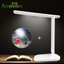 USB Rechargeable Table/Desk Lamp Touch On/off Switch Night Light  Eye Care Dimmable Book/Reading/Study Lamp+USB Night Light Gift