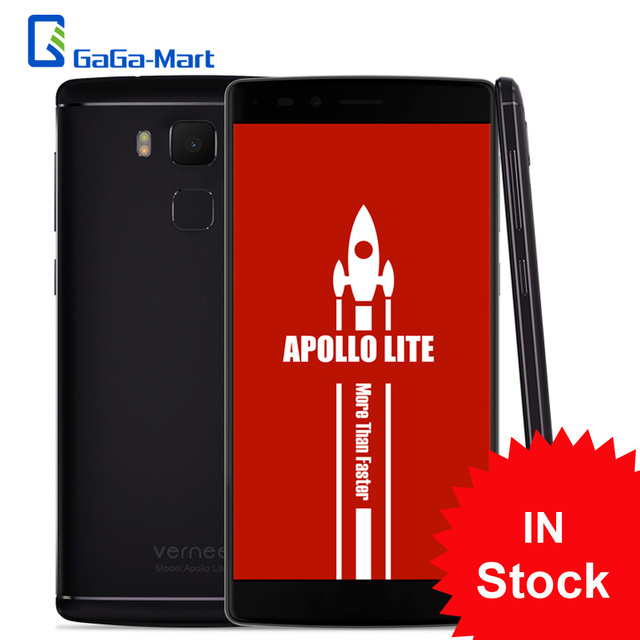 "In Stock Vernee Apollo Lite 4G Mobile Phone MTK6797 Helio X20 Deca Core 5.5"" FHD Android 6.0 4GB+32GB 16.0MP Touch ID Dual WiFi"