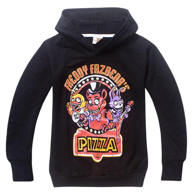 2016 Cinco Noites no Freddy FNAF meninos Hoodies das Camisolas Das Crianças Dos Miúdos da Roupa Do Bebê Das Meninas dos meninos Hoodies & Camisolas jaqueta