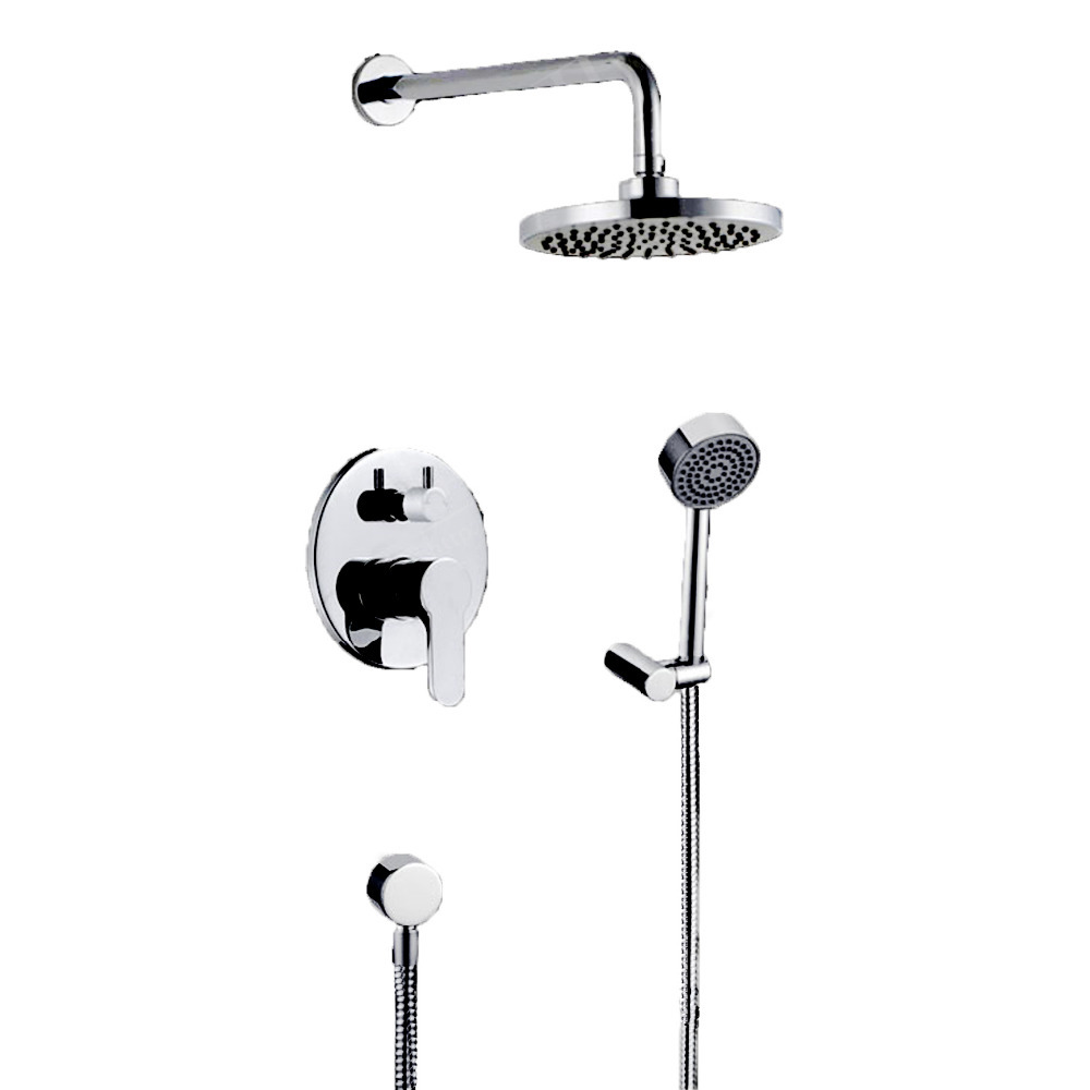 Shower Faucet Set Round And Rainfall 8 Inch Brass Shower Head And 2-Way Mixer Valve Concealed Wall Mounted Set-Free ShippingShower Faucet Set Round And Rainfall 8 Inch Brass Shower Head And 2-Way Mixer Valve Concealed Wall Mounted Set-Free Shipping