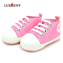 цены LUEISNY Newborn Baby Boys Girls First Walkers Shoes Canvas Classic Sports Sneakers Infant Toddler Soft Sole Anti-slip Baby Shoes