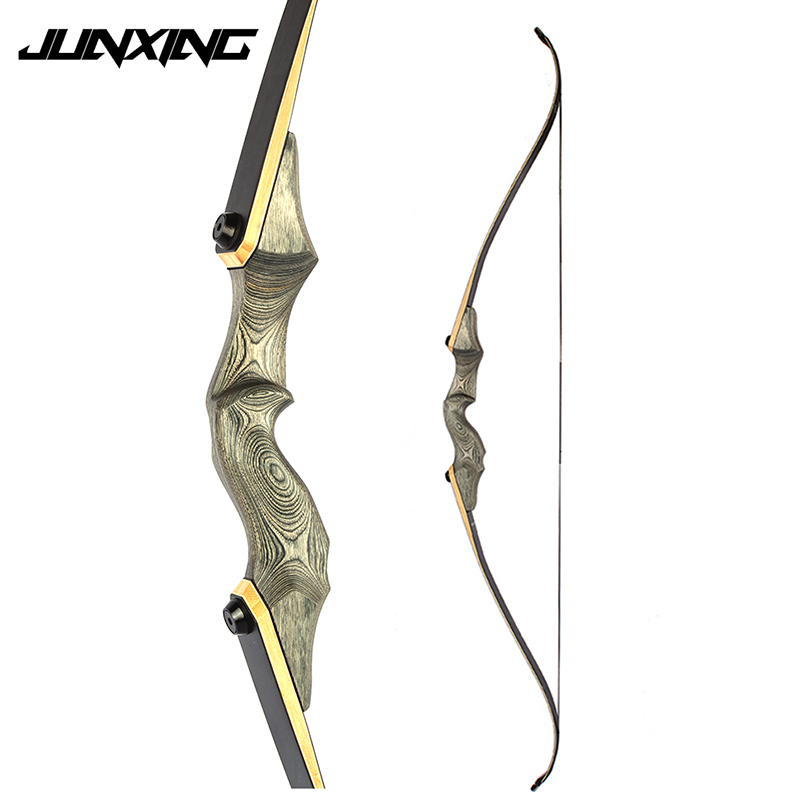 American Recurve Bow 30/35/40/45/50 LBS 58 inches with 15 inches Riser for Right Hand User Archery Bow Hunting Shooting