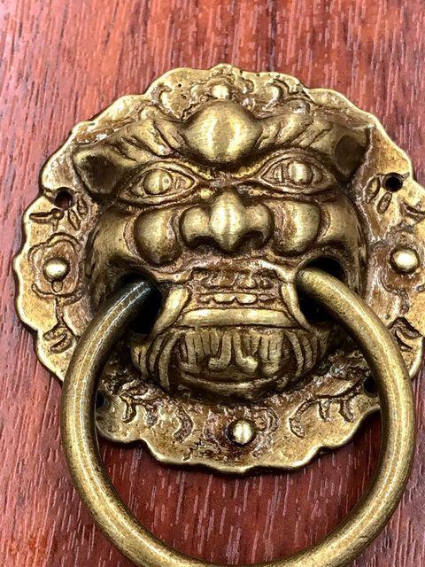 Charmant 1Pcs Door Handle Antique Brass Golden Vintage Bronze Metal Lion Head  Furniture Door Cabinet Drawer Pull