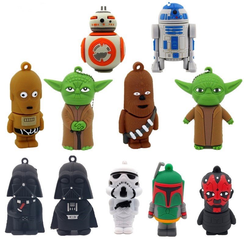 Hot Cartoon Usb Stick 128GB Silicon Usb Flash Drive 3.0 4GB 8GB 16GB 32GB 64GB Star Wars Das Moore Pen Drive High Speed Pendrive