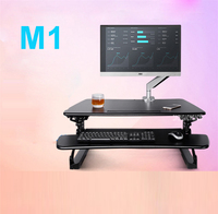 M1 EasyUp Height Adjustable Sit Stand Desk Riser Foldable Laptop Desk Notebook/Monitor Holder Stand With Keyboard Tray 680*590mm