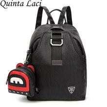 Quinta laci Для женщин рюкзак 2017 Женская мода кожаный рюкзак мешок отдыха и путешествий, универсальные прилив ветер студент сумка рюкзак