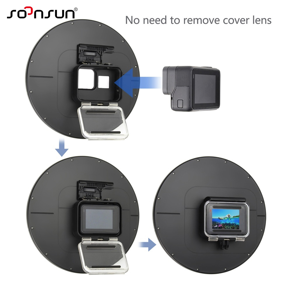 """Image 3 - SOONSUN 6"""" Underwater Waterproof Dome Port Diving Lens Cover Case for GoPro Hero 5 6 7 Black Go Pro Hero7 White/Silver Accessory-in Sports Camcorder Cases from Consumer Electronics"""