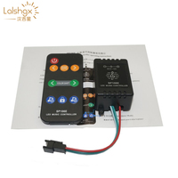 SP106E 9 tasten LED Musik LED Controller DC5V 12V WS2811/WS2812B/6812/1903/6803 Magie LED band digitale musik sound controller-in RGB-Controller aus Licht & Beleuchtung bei