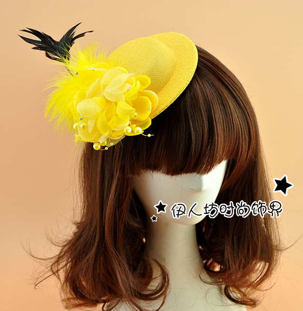Cute Feather Wedding Party Accessories Bride Fascinator Wedding Hat Veils Special-Occasion-Hats Wedding Hat Veils Ivory