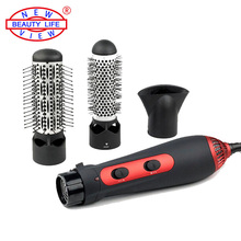 220V 1200W Hot Air Brush Styler and Hair Dryer Machine Comb 3-in-1 Multifunctional Styling Tools Set Hairdryer (EU Standard)