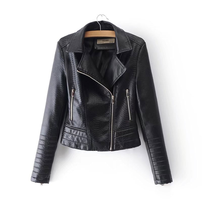 Women High Quality PU   Leather   Jacket Winter Slim   Leather   Biker Jacket Motor Korean Ladies   Leather   Coat Jaqueta de couro feminina