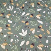 Printed Leaf Baby Cotton Twill Fabric by half meter for DIY Sewing Bed Sheet Dress making cotton fabric