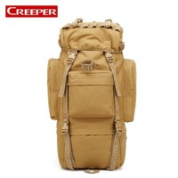 65L Big Capacity Outdoor Professional Hiking Backpack Camo Printed Military Tactical Bag Unisex Nylon Waterproof Travel